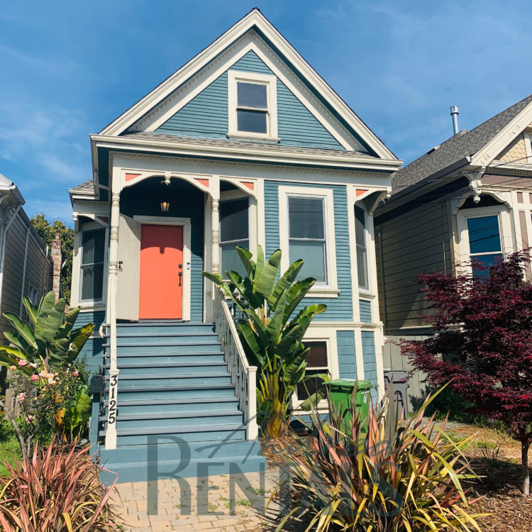 Gorgeous, custom West Oakland 2br/1ba Victorian with huge, landscaped yard and garden – available now!
