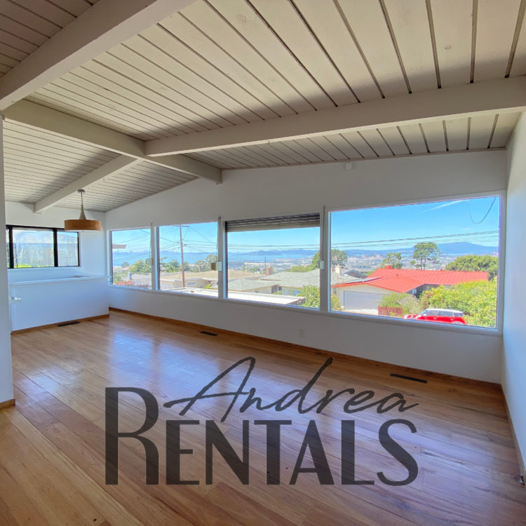 Spacious, updated 3BD/2BA in the El Cerrito hills with spectacular bay views for rent!
