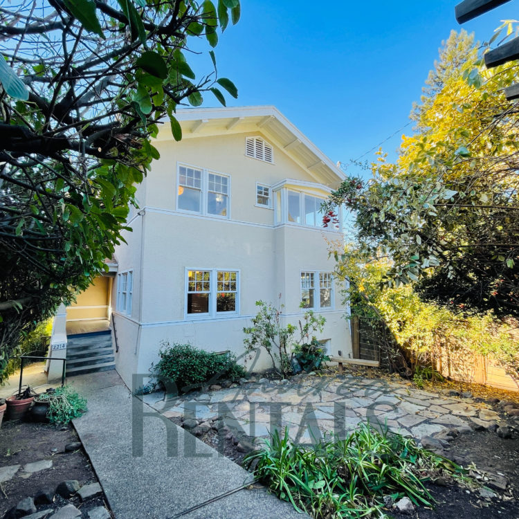 Graceful and sunny 4 bedroom/2.5 bath Berkeley Traditional with sweeping Bay views available now!