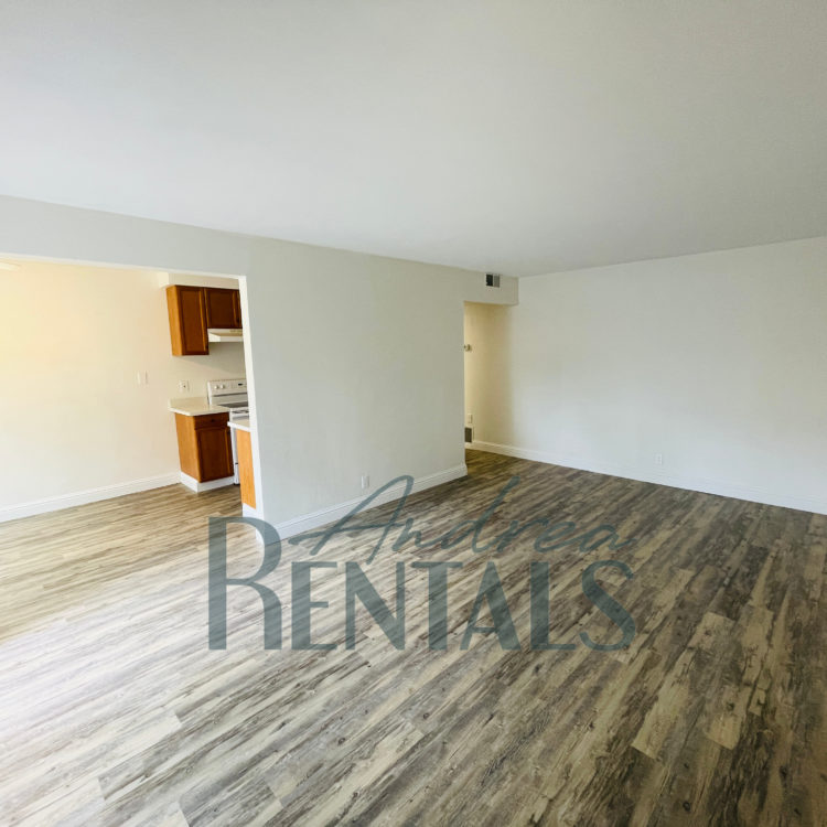 Spacious and super-clean 1st floor 1 bedroom,1 bathroom apartment with a large, pretty balcony in retro-cool 50's apartment complex in the Lower Dimond District.