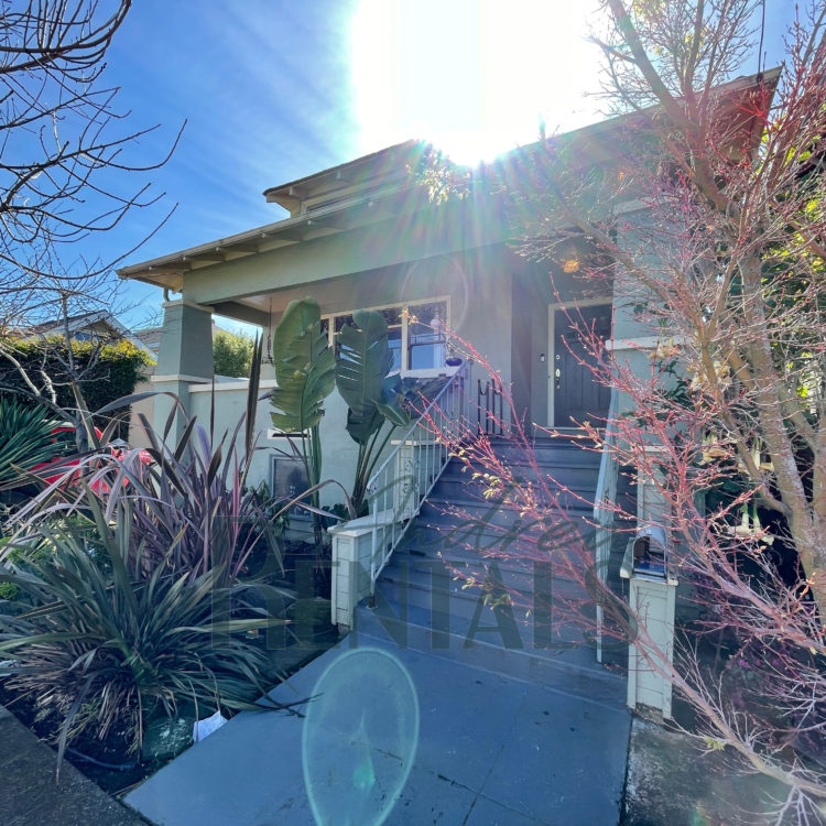 Charming and private 2++ bedroom,1 bath classic Craftsman home in the heart of Temescal, with detached backyard cottage, sunny backyard, home gym, and more.