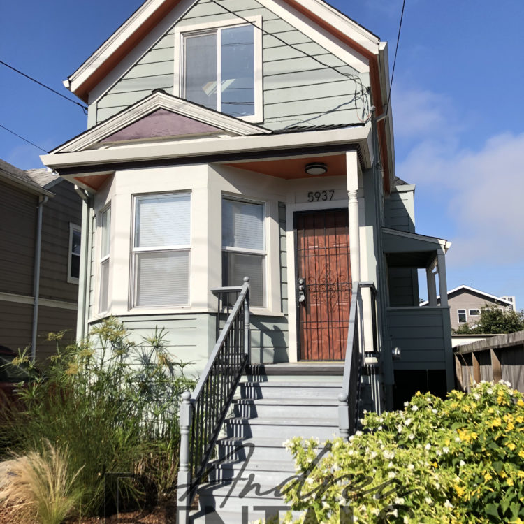 Modernized victorian style house with classic Oakland charm on the outside and contemporary updates on the inside!