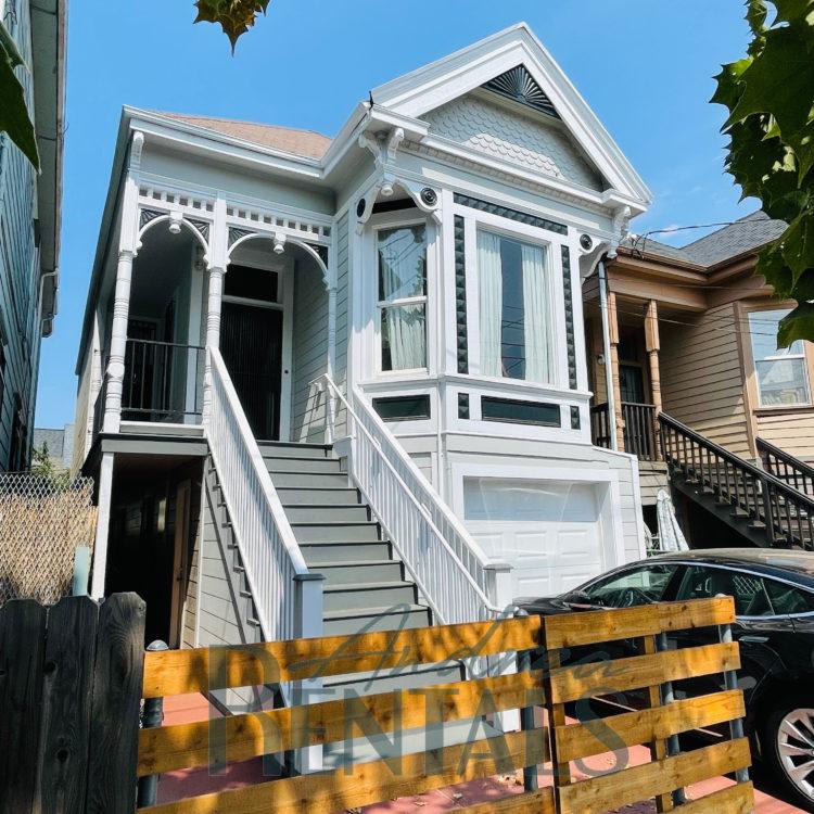 Pristine 3BR/1bath lower unit in an owner-occupied Victorian duplex.